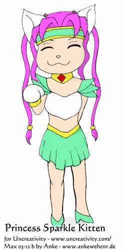 Princess Sparkle Kitten for Uncreativity (max03-12b)
