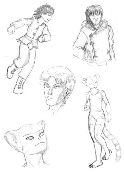 Sketches - Eodean Cahracters