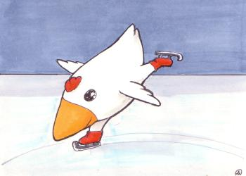 Chicken on ice