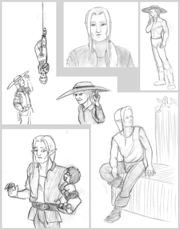 Collected Sebbie sketches (and Nico)