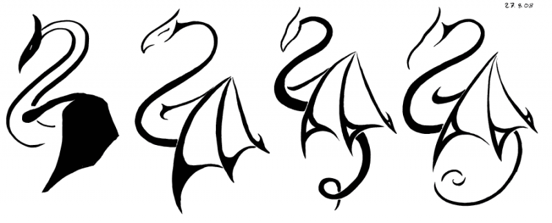 Stylized Dragon Progression